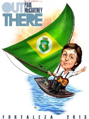 Paul McCartney em Fortaleza (Foto: Soza/Arquivo Pessoal)