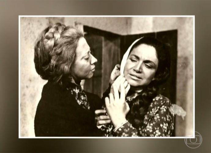 Fernanda Montenegro e Nathália Timberg contracenaram juntas muitas vezes (Foto: Reprodução / TV Globo)
