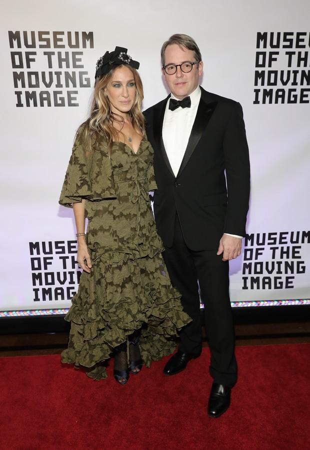 Sarah Jessica Parker e Matthew Broderick em evento em Nova York, nos Estados Unidos (Foto: Neilson Barnard/ Getty Images/ AFP)