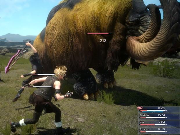 Cena dos combates em tempo real de 'Final Fantasy XV' (Foto: Divulgação/Square Enix)