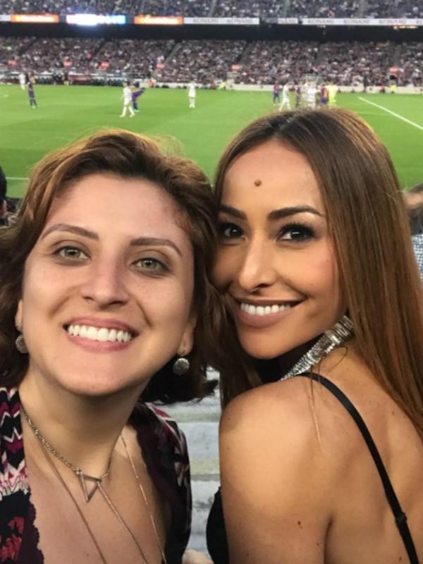 Sabrina Sato no jogo do Barcelona (Foto: Reprodução/Instagram)