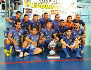 Evolution venceu campeonato adulto com time de base (Foto: Wemis Pessoa/ Arquivo pessoal)