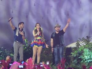 Zezé Di Camargo e Luciano fizeram participação especial (Foto: Gabriel Barreira/G1)