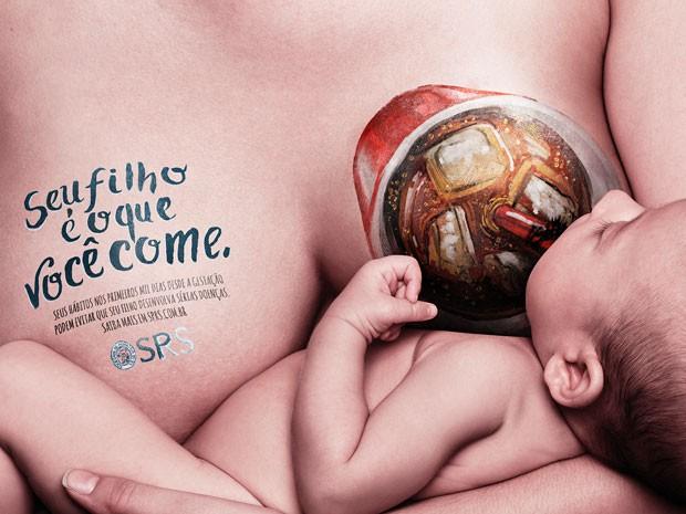 Campanha mãe bebê pediatria RS (Foto: Divulgação)