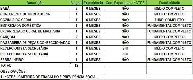Sine oferece 12 vagas de emprego nesta quarta-feira (8) (Foto: Divulgação/Sine)