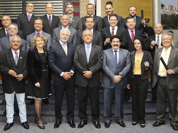 Vinte vereadores foram diplomados em Sorocaba (Foto: Câmara de Sorocaba/Divulgação)