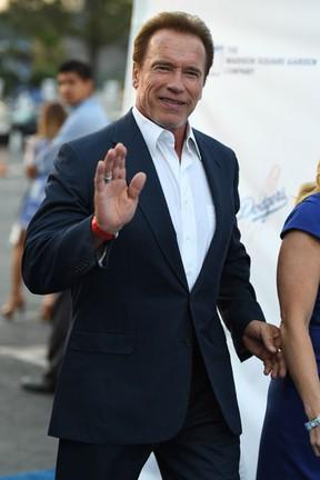 Arnold Schwarzenegger em evento beneficente em Los Angeles, nos Estados Unidos (Foto: Angela Weiss/ Getty Images/ AFP)