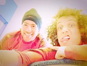 David Luiz e Maxwell no PSG (Foto: Reprodução)