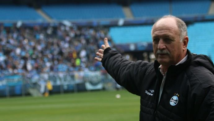 Felipão chegada Porto Alegre Grêmio treino (Foto: Diego Guichard/GloboEsporte.com)