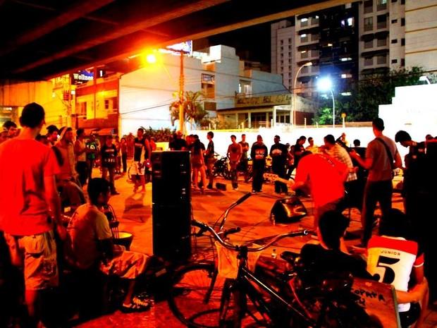 Canellada leva arte para debaixo da 3ª ponte (Foto: Daiana Rocha/ Divulgação)