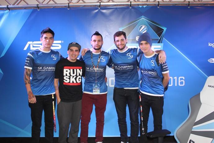 SK Gaming equipe brasileira CS:GO ESL One (Foto: Clicia Oliveira)