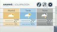 Previsão é de chuva para o primeiro dia de shows do Lollapalooza 2018