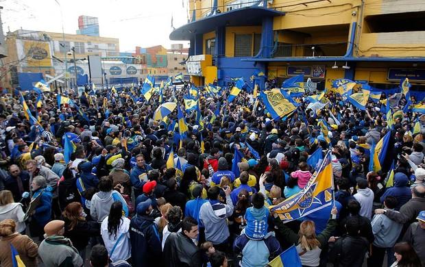 Banderazo torcida Boca Juniors Riquelme  (Foto: Agência Reuters)