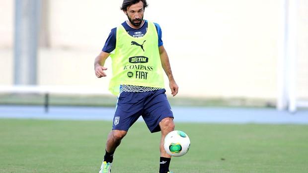 Pirlo treino Itália  (Foto: André Durão / Globoesporte.com)