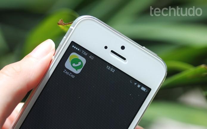 Aprenda a fazer ligações pelo ZapZap Messenger no iPhone (Foto: Luana Marfim/TechTudo)