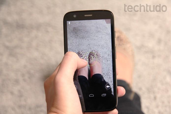 Aplicativo de câmera do Moto G (Foto: Luciana Maline/TechTudo)