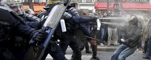Protesto antes da Cúpula do Clima em Paris termina com 208 detidos (Eric Gaillard/Reuters)