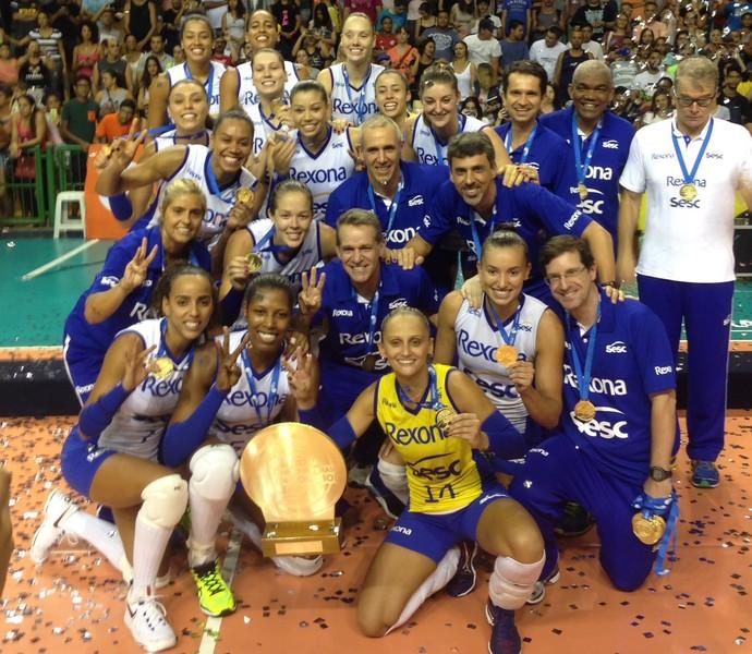 Rio de Janeiro foi campeão da Copa Brasil de vôlei feminino (Foto: Divulgação/CBV)