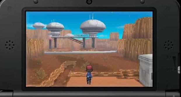 Mapas do game apresentam gráficos em 3D na tela do Nintendo 3DS (Foto: Divulgação)