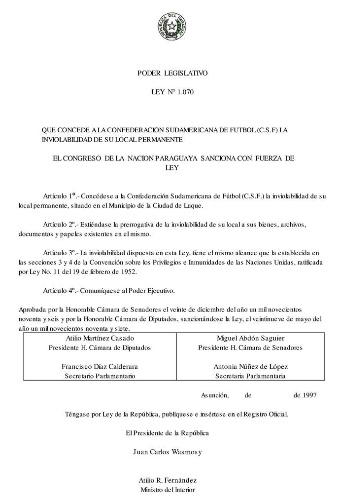 lei 10701997 conmebol (Foto: Reprodução)