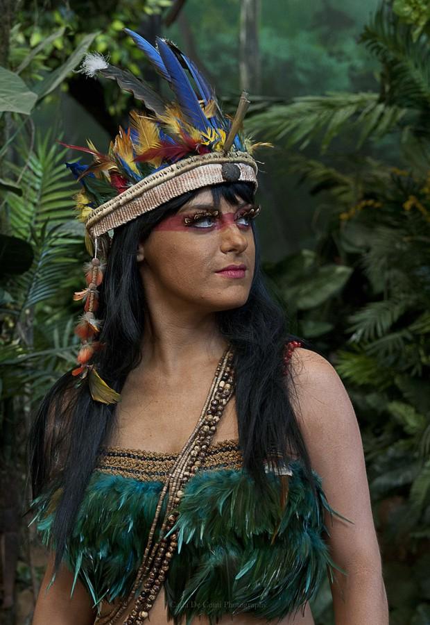 Alessandra Maestrini - atriz concorre a prêmio por personagem de índia (Foto: Carla Conti/Divulgação)