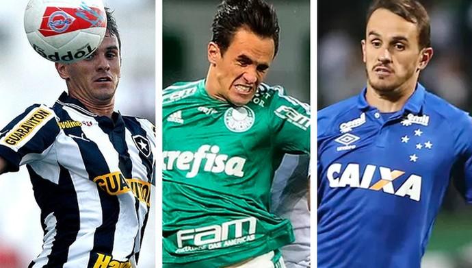 Montagem Lucas Marques, Botafogo, Palmeiras e Cruzeiro (Foto: infoesporte)