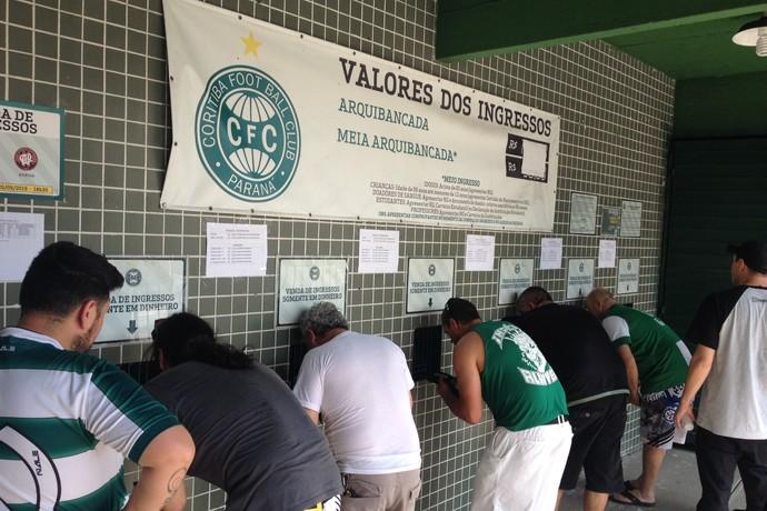 ingresos venda couto pereira coritiba x atlético-pr atletiba (Foto: Monique Silva)