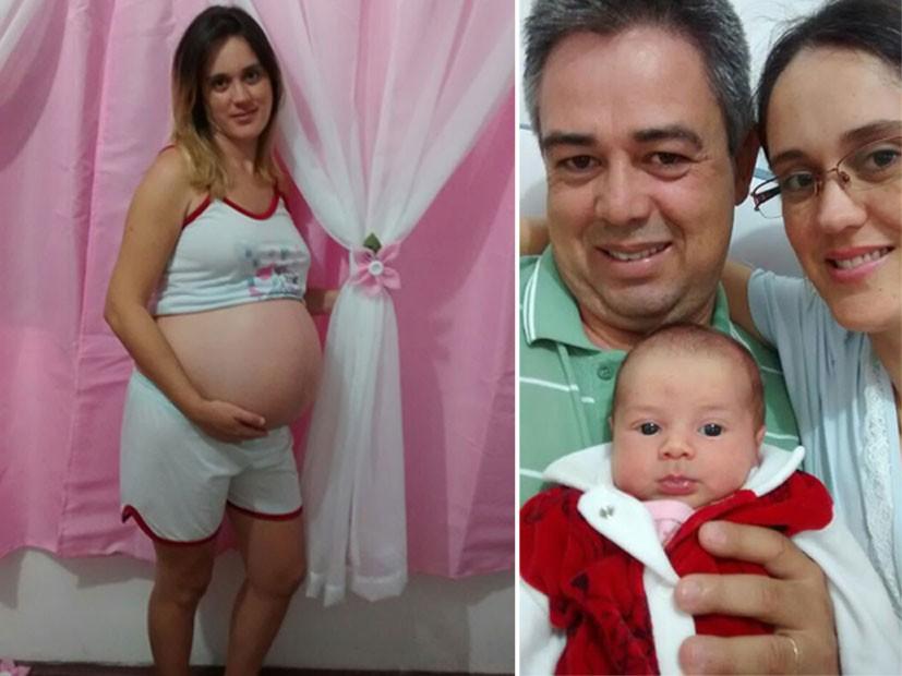 Adriana Freire, 33 anos, juntou dinheiro para realizar uma fertilização in vitro. Sua gravidez ocorreu na primeira tentativa (Foto: Arquivo pessoal)