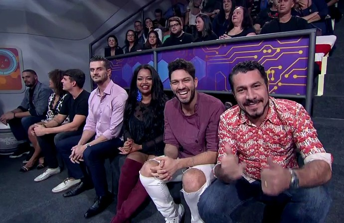 Ex-brothers na plateia da Final do BBB17 (Foto: TV Globo)