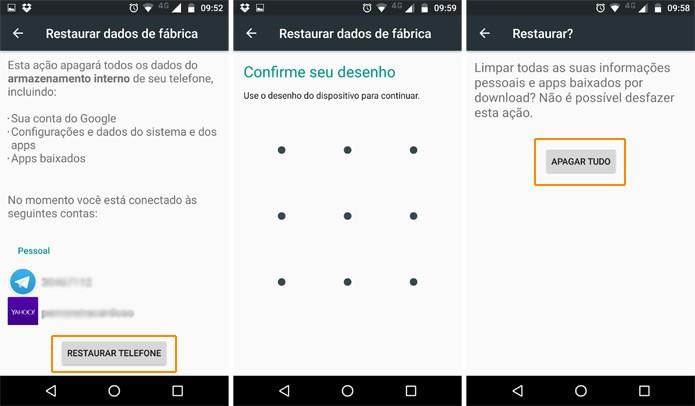 Finalmente, inicie o processo de restauração do Moto Z Play (Reprodução)