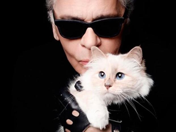 Karl Lagerfeld e Choupette  (Foto: Reprodução/ Instagram)