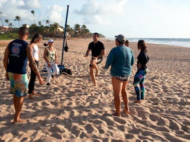 Educadores físicos poderão pagar taxa para uso de praias em treino funcional (Foto: Lilian Marques/G1)