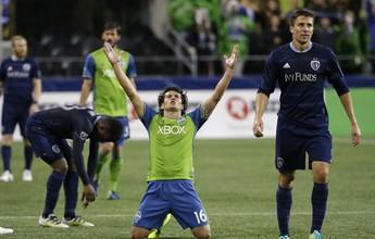 Adiantado, paraguaio marca no fim, e Seattle vai às semis do Oeste na MLS