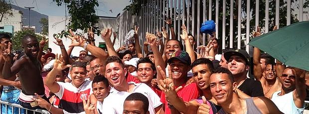 fila torcida Maracanã jogo Flamengo