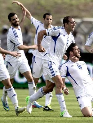 Jogadores israel gol portugal (Foto: Agência EFE)