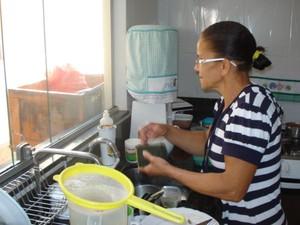 marlene trabalha em casa de familia (Foto: Arquivo pessoal)