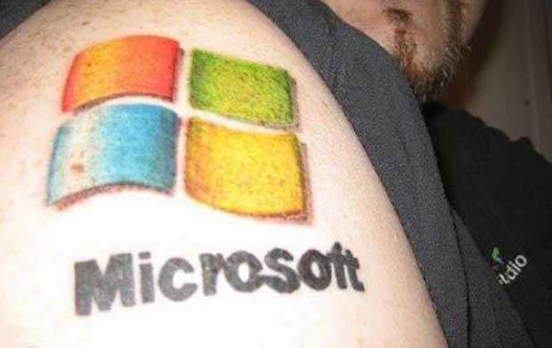 Fã da empresa Microsoft (Foto: Reprodução/The Chive)