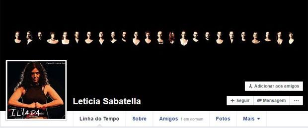 Perfil de Leticia Sabatella no Facebook foi desativado (Foto: Reprodução/Facebook/Leticia Sabatella)