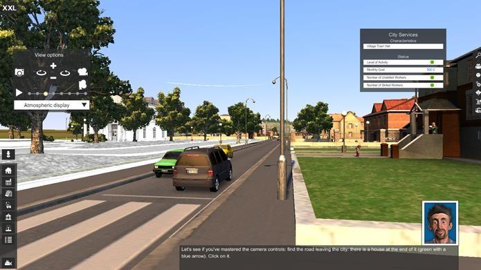 Um dos destaques do jogo é a câmera livre que pode realizar closes da cidade (Foto: Reprodução / Dario Coutinho)