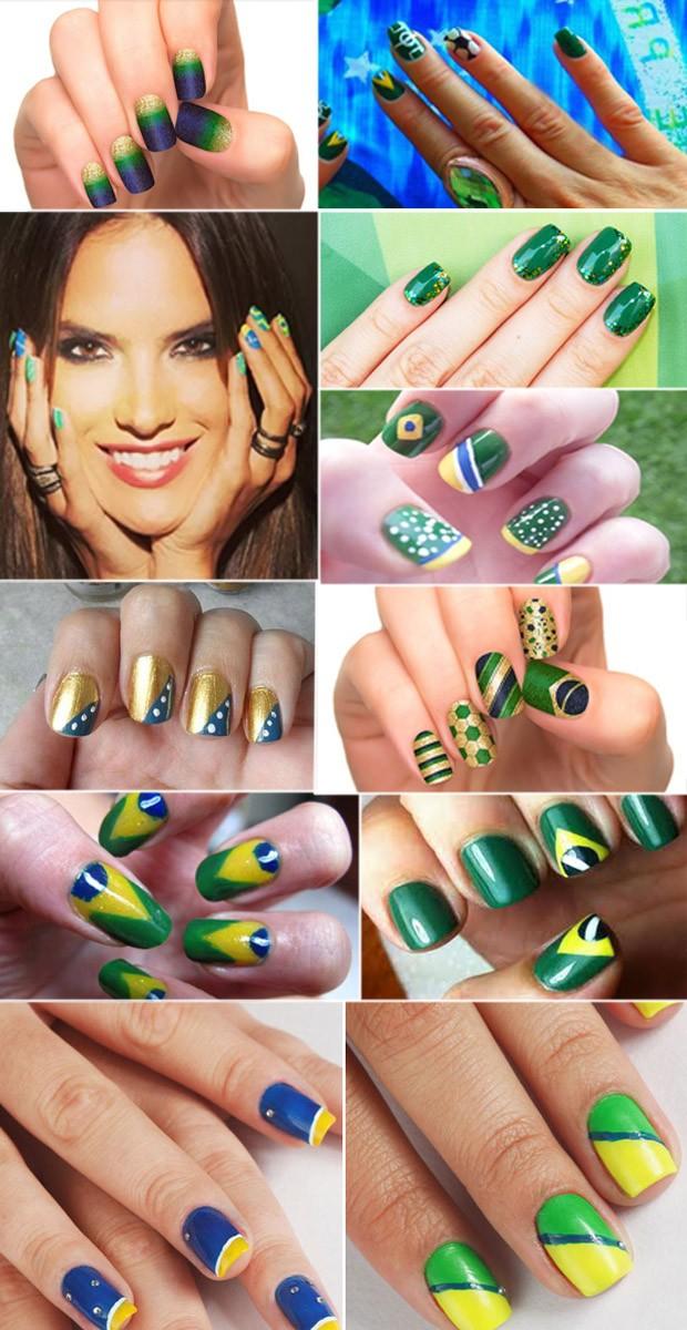 Nail Art Copa do Mundo (3) - valendo (Foto: Divulgao e Instagram.)