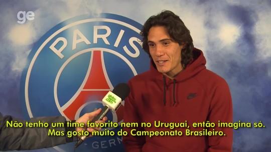 Fã de SPC e Raça Negra, Cavani diz que está à espera de Neymar no PSG