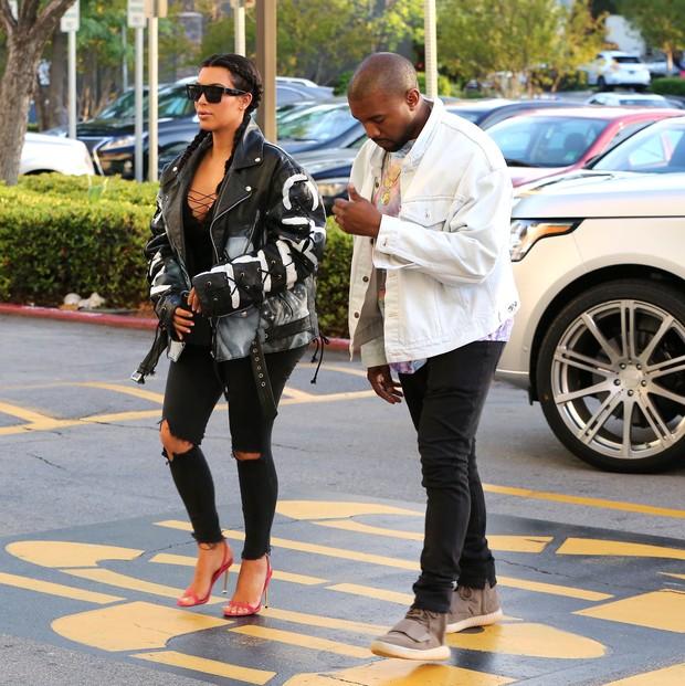 X17 - Kim Kardashian e Kanye West (Foto:  Rol/X17online.com)
