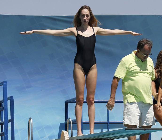 Será que Talytha Pugliesi vai ter coragem de saltar? (Foto: Ellen Soares/Gshow )