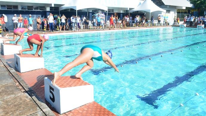 Open de natação em Santarém (Foto: Daína / Tv Tapajós)