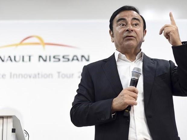 Carlos Ghosn, presidente da Renault Nissan, faz apresentação na Califórnia, no último dia 7 de janeiro (Foto: Noah Berger/Reuters)