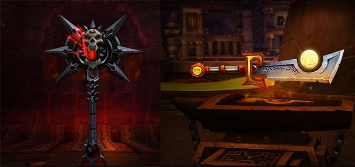 Algumas das armas de World of Warcraft Legion (Foto: Divulgação/Blizzard)