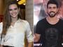 Juliana Paiva e Juliano Laham trocam beijos e evitam fotos em show no Rio