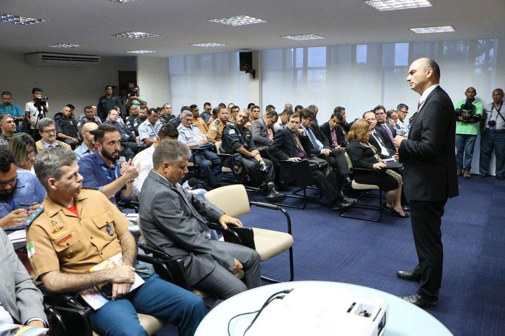 Plano estratégico de segurança foi apresentado nesta segunda (10) (Foto: Ivanízio Ramos)