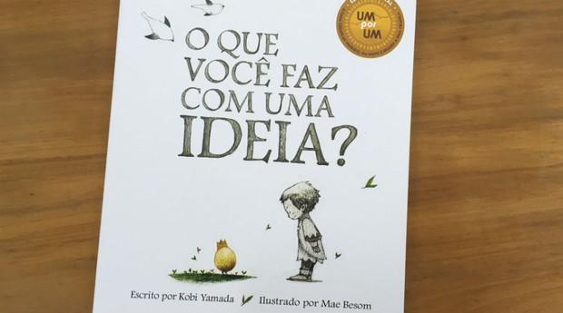 O livro discute os temas de ideia e de criatividade para crianças com linguagem despretensiosa  (Foto: Divulgação)