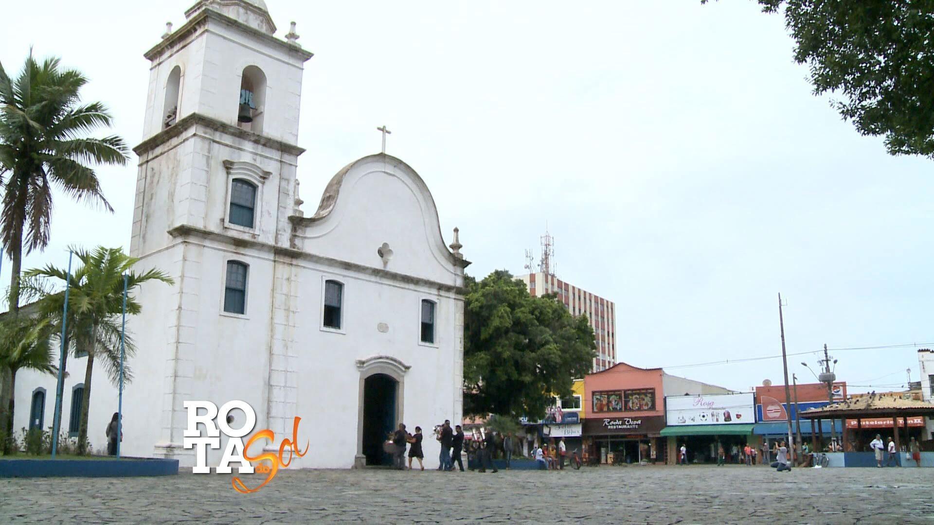 Rota do Sol em Itanhaém (Foto: Reprodução/TV Tribuna)
